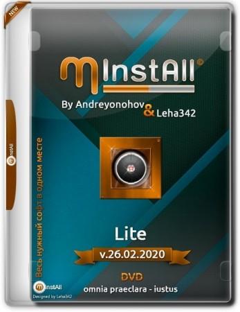 Компактный сборник программ - MInstAll by Andreyonohov & Leha342 Lite v.26.02.2020
