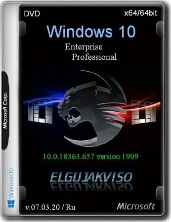 Windows 10 2in1 VL (x64) Elgujakviso Edition (v.07.03.20)