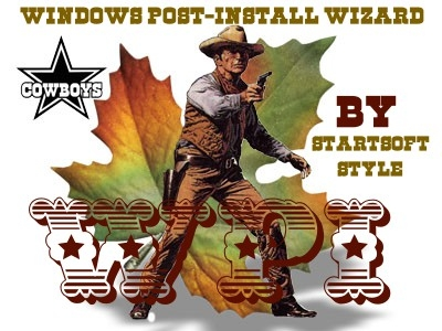 Программы с автоустановкой - Windows Post-Install Wizard by StartSoft Cowboy Style Retro 04-2020